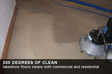 Lakeshore Floors cleans both commercial and residential carpet